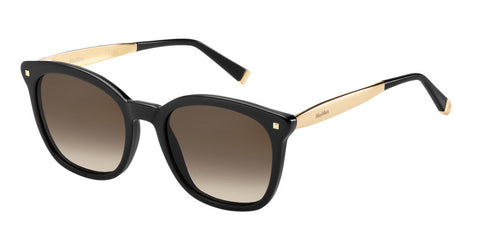 Max Mara - Needle III Black Gold Copper Sunglasses / Brown Gradient Lenses