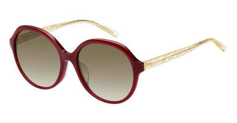 Max Mara - Twist II FS Opal Burgundy Sunglasses / Brown Gradient Lenses