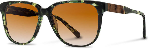 Shwood - Mckenzie Acetate Dark Forest / Brown Fade Polarized Sunglasses