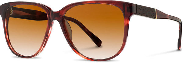 Shwood - Mckenzie Acetate Sangria / Brown Fade Polarized Sunglasses
