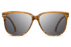 Shwood - Mckenzie Zebrawood / Grey Polarized Sunglasses
