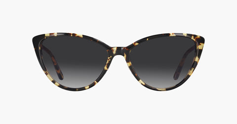 Garrett Leight - Mildred Block Tortoise Sunglasses / Gold Charcoal Lenses
