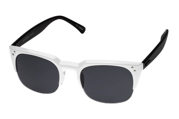 MINKPINK Fast Forward White & Black Sunglasses