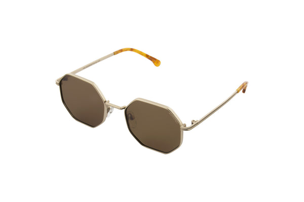 Komono - The Monroe White Gold Sunglasses