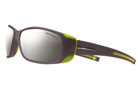 Julbo - MonteBianco Matte Black / Lime Green Sunglasses, Spectron 4 Lenses