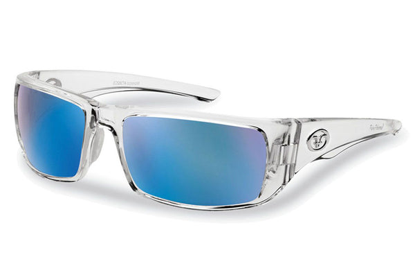 Flying Fisherman - Morocco 7382 Crystal Sunglasses, Smoke-Blue Mirror Lenses