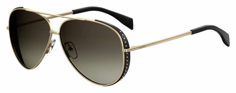 Moschino - Mos 007 S Gold Brown Sunglasses / Brown Gradient Lenses