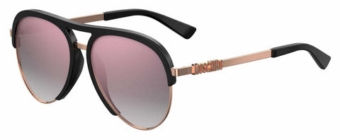 Moschino - Mos 041 S Black Gold Sunglasses / Multipink Lenses