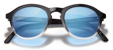 Sunski - Singlefin Black Sunglasses / Aqua Polarized Lenses