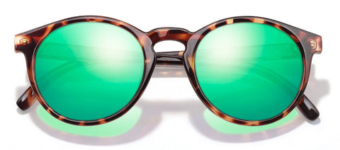 Sunski Dipseas Tortoise Sunglasses / Emerald Polarized Lenses