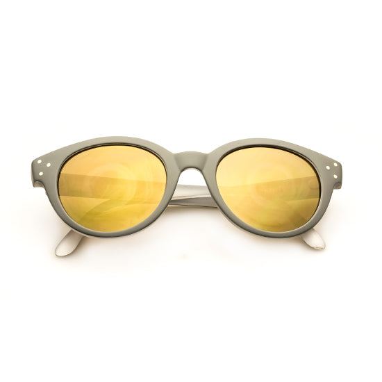 Spektre - Vitesse Matte Grey Sunglasses / Gold Mirror Lenses
