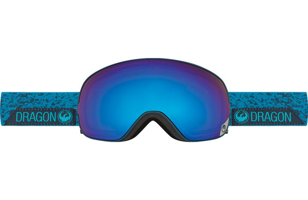 Dragon - X2s Stone Blue / Blue Steel + Yellow Red Ion Goggles