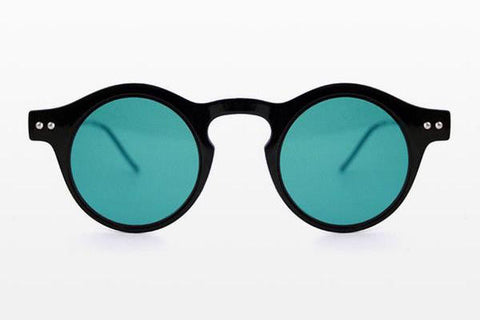 Spitfire - Nexus Black Sunglasses, Turquoise Lenses