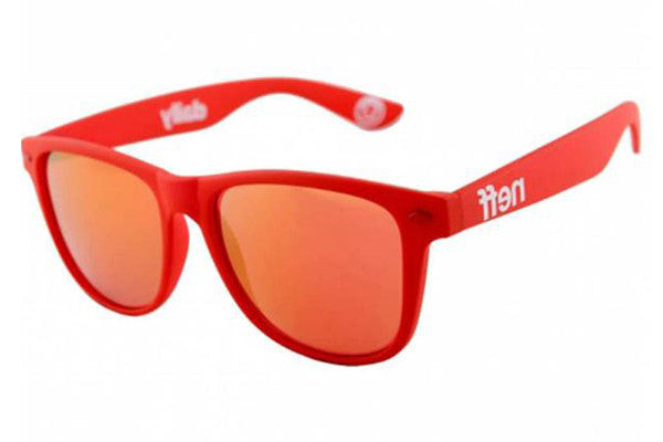 51ed027a87a84 Neff - Daily Red Rubber Sunglasses – New York Glass