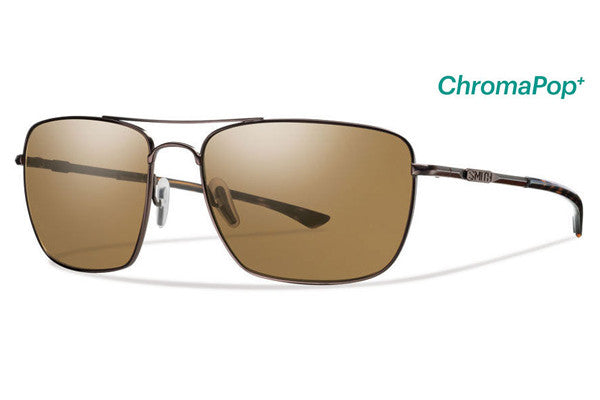 Smith - Nomad Matte Brown Sunglasses, ChromaPop Polarized Brown Lenses