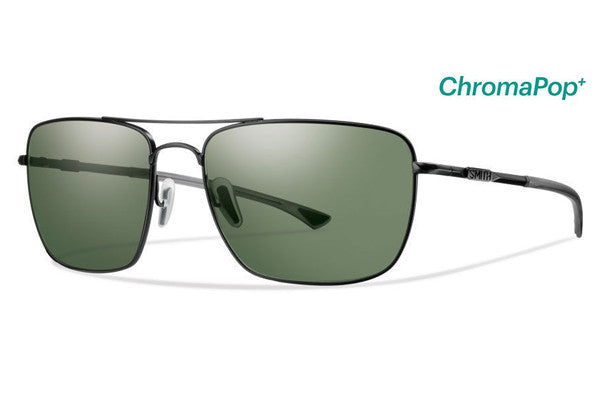 Smith - Nomad Matte Black Sunglasses, ChromaPop Polarized Gray Green Lenses