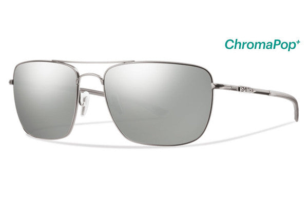 Smith Nomad Matte Silver Sunglasses, ChromaPop Polarized Platinum Lenses