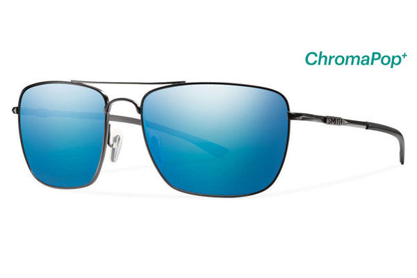 Smith - Nomad Dark Gray Sunglasses, ChromaPop Polarized Blue Mirror Lenses