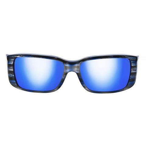 Jonathan Paul Fitovers - Nowie Brushed Steel Fitover Sunglasses / Polarvue Blue Mirror Lenses