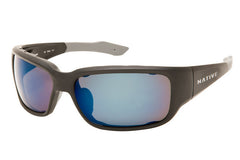 Native - Bolder Asphalt Sunglasses, Polarized Blue Reflex Lenses