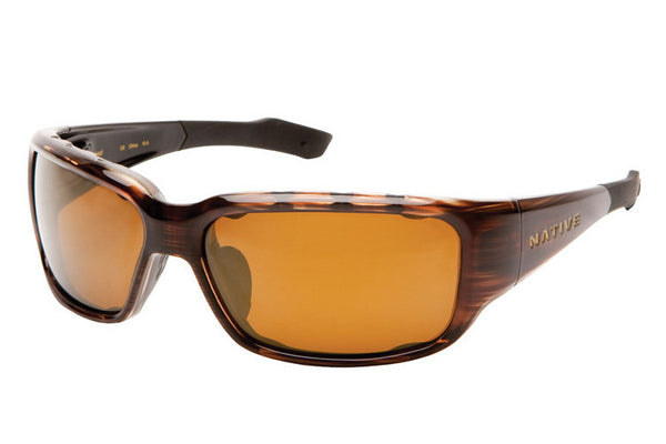 Native - Bolder Wood Sunglasses, Polarized Bronze Reflex Lenses