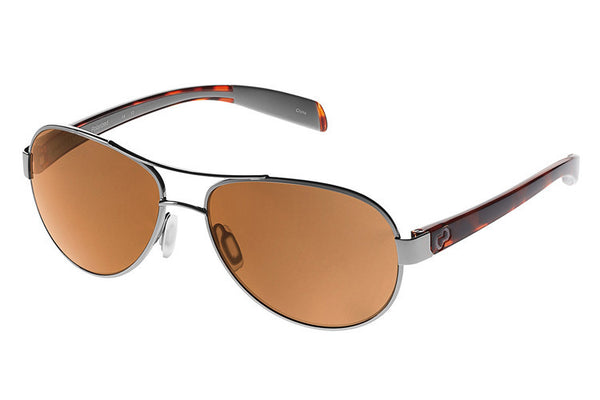 Native - Haskill Chrome/Maple Tort Sunglasses, Polarized Brown Lenses