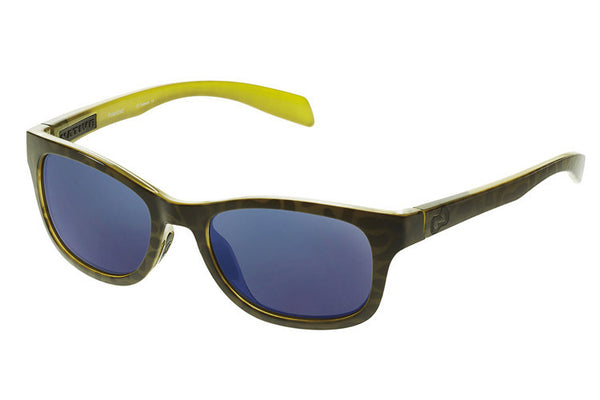 Native - Highline Black Lime Burst Sunglasses, Polarized Blue Reflex Lenses