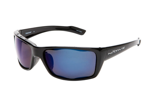 Native - Wazee Iron Sunglasses, Polarized Blue Reflex Lenses