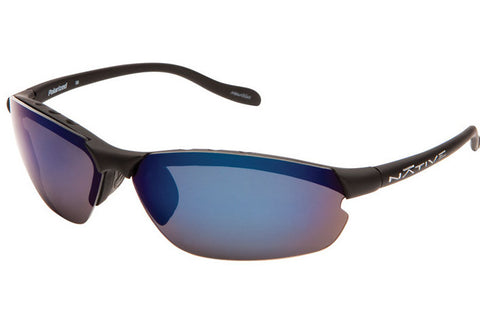 Native - Dash XP Asphalt Sunglasses, Polarized Blue Reflex Lenses