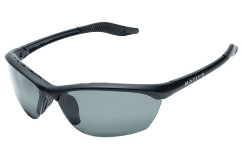 Native Hardtop Asphalt Sunglasses, Polarized Gray Lenses