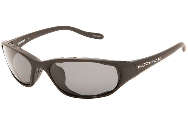 Native Throttle Asphalt Sunglasses, Polarized Gray Lenses
