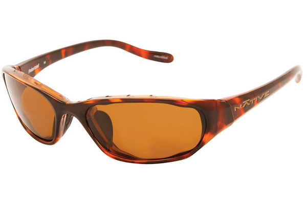 Native Throttle Maple Tort Sunglasses, Polarized Brown Lenses