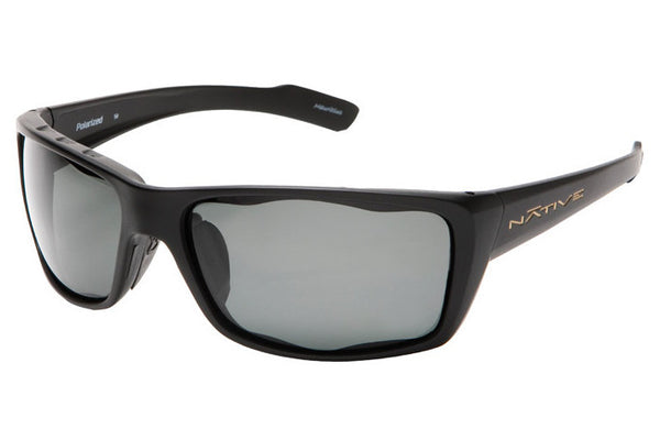 Native Wazee Asphalt Sunglasses, Polarized Gray Lenses