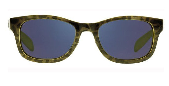 Native - Highline Black Lime Burst Sunglasses, Blue Reflex Lenses