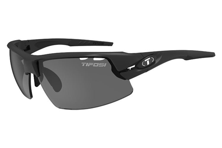 Tifosi - Crit Matte Black Sunglasses, Interchangeable AC Red / Clear / Smoke Lenses