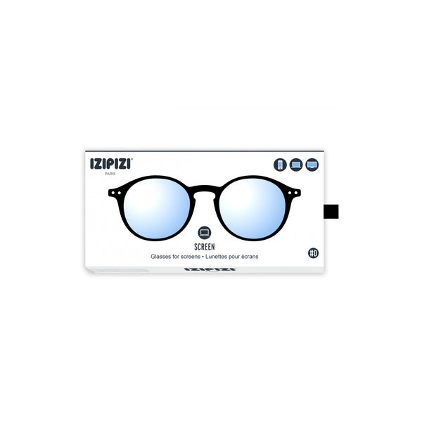 Izipizi - #D Black Eyeglasses / Screen Blue Light Clear Lenses