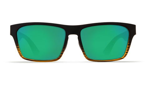 Costa - Hinano  Matte Coconut Fade Sunglasses / Green Polarized Plastic Lenses