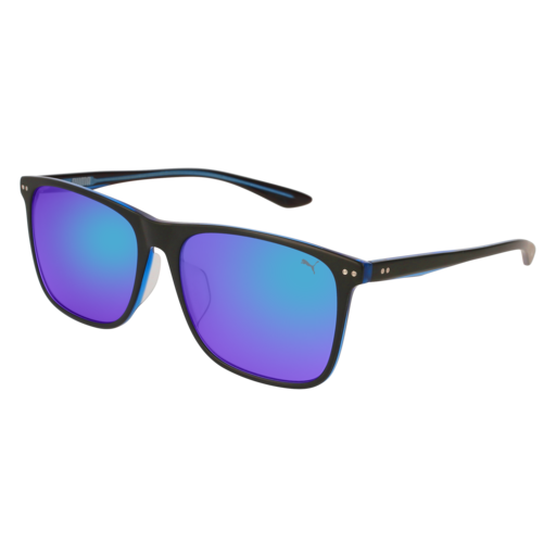 Puma - PU0127SA Black Sunglasses / Blue Lenses