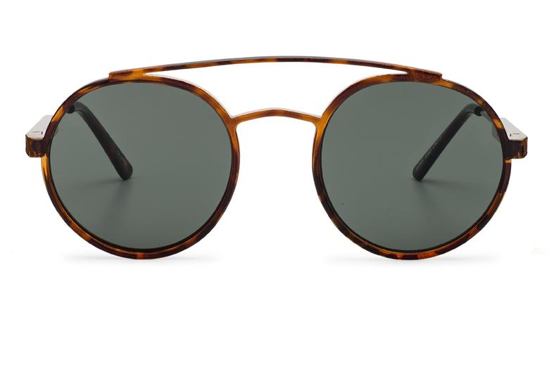 Spitfire - Stay Rad Tortoise Shell Sunglasses / Black Lenses