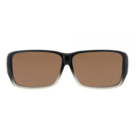 Jonathan Paul Fitovers - Oogee Black Fade Fitover Sunglasses / Polarvue Amber Lenses