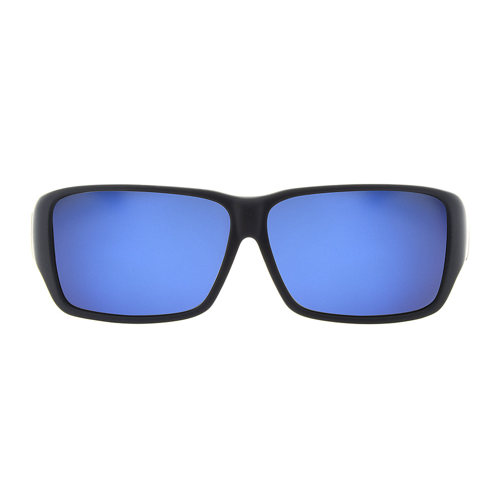 0a6938be8e8 Jonathan Paul Fitovers - Oogee Matte Black Fitover Sunglasses   Polarvue  Blue Mirror Lenses – New York Glass
