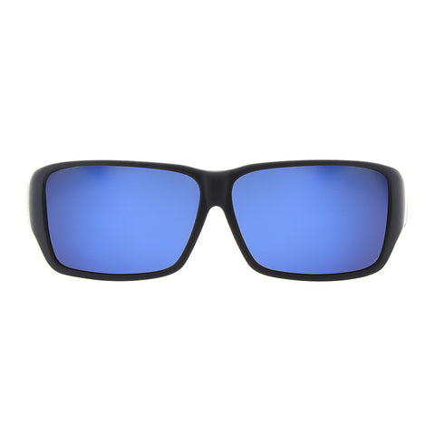Jonathan Paul Fitovers - Oogee Matte Black Fitover Sunglasses / Polarvue Blue Mirror Lenses