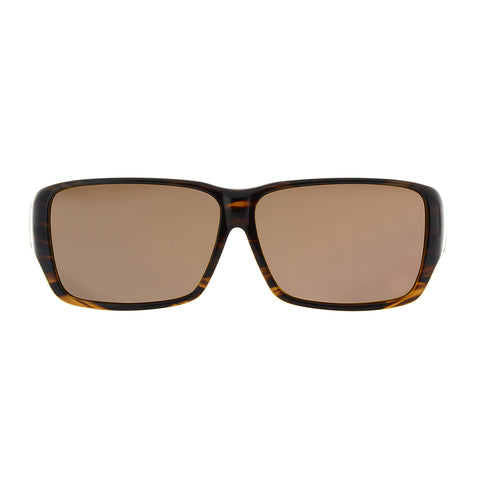 Jonathan Paul Fitovers - Oogee Bark Fitover Sunglasses / Polarvue Amber Lenses
