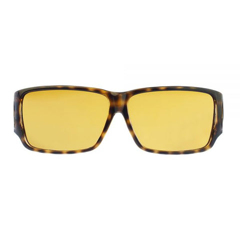 Jonathan Paul Fitovers - Orion Cheetah Fitover Sunglasses / Polarvue Yellow Lenses