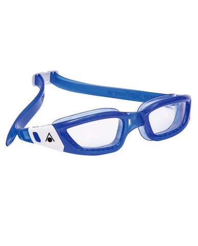Aqua Sphere - Kameleon Jr Blue White Accents Swim Goggles / Clear  Lenses