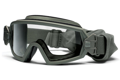 Smith - Outside The Wire Asian Fit Foliage Green Tactical Goggles, Clear Mil-Spec Field Kit Lenses