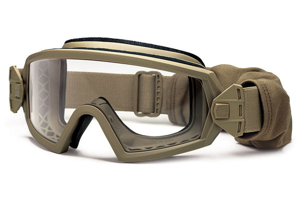 Smith - Outside The Wire Asian Fit Tan 499 Tactical Goggles, Clear Mil-Spec Field Kit Lenses