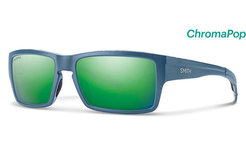 Smith - Outlier Matte Corsair Ripped Sunglasses, ChromaPop Sun Green Mirror Lenses