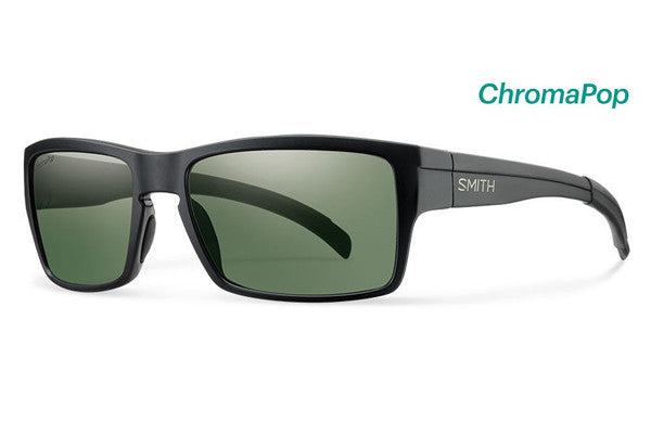 Smith - Outlier Matte Black Sunglasses, ChromaPop Polarized Gray Green Lenses