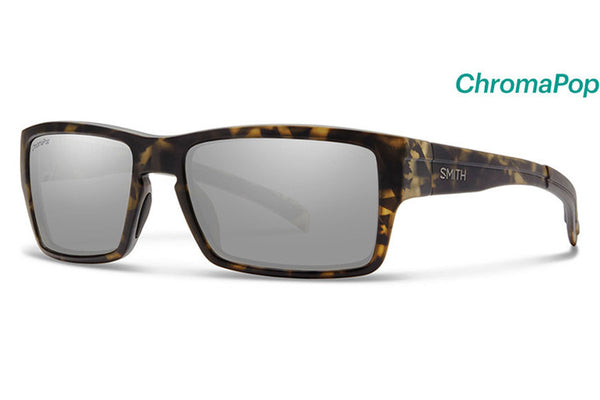 Smith - Outlier Matte Camo Sunglasses, Chromapop Polarized Platinum Lenses